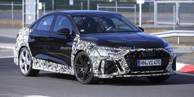 Erwischt:  Audi RS 3 Sportback und RS 3 Limousine (2021) - Wartezeit wird unerträglich