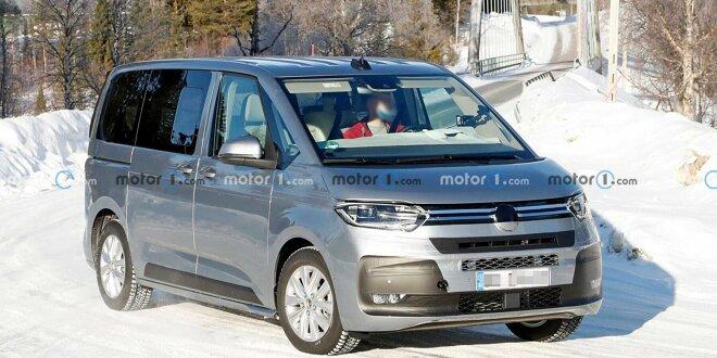 VW T7 Multivan auf neuen Erlkönigbildern fast ungetarnt - Nur noch wenige Wochen