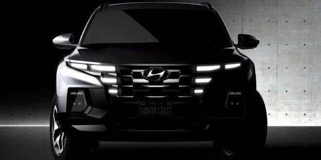 Kompakter Pickup offiziell angeteasert - Das ist der Hyundai Santa Cruz