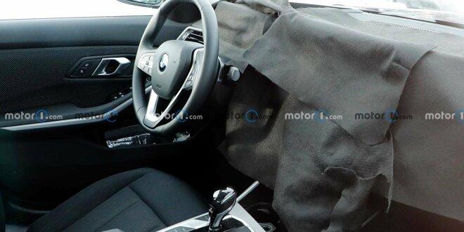 BMW 3er (2022) Erlkönig -  Bringt Facelift ein neues Cockpit?