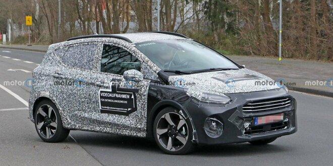 Ford Fiesta Facelift (2021) auf neuen Erlkönigbildern - Änderungen an Front und Heck