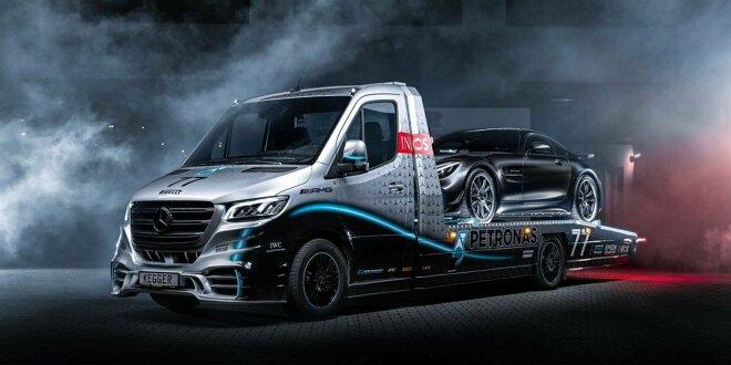 Mercedes Sprinter mit V6 in Petronas Edition - Kegger haut einen raus ...