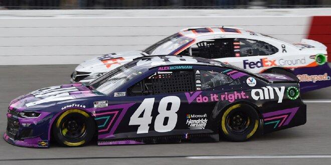 Sieg für #48 am Tag von Jimmie Johnsons IndyCar-Debüt - Bowman ringt Hamlin nieder