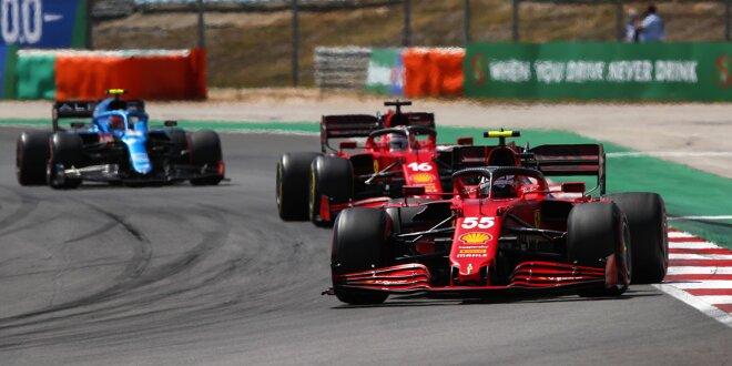 Stallorder bei Ferrari in Portimao -  Keine Gegenwehr von Carlos Sainz