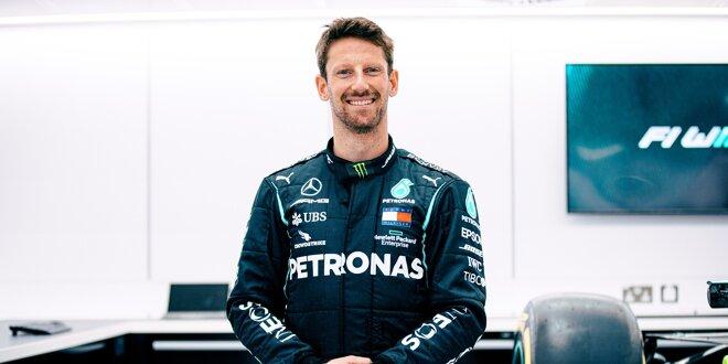 Sieben Monate nach Feuerunfall in Bahrain -  Grosjean bekommt Mercedes-Test