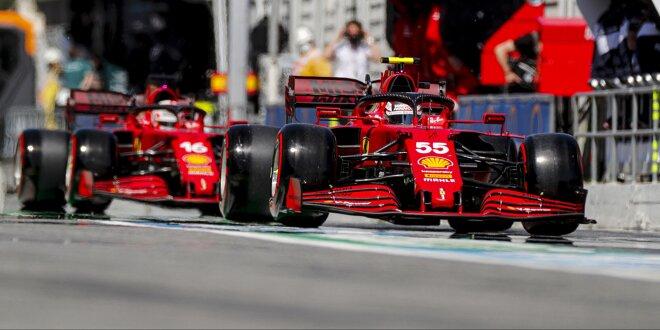 Leclerc und Sainz im Barcelona-Qualifying stark, aber: - Ferrari wegen Reifen besorgt