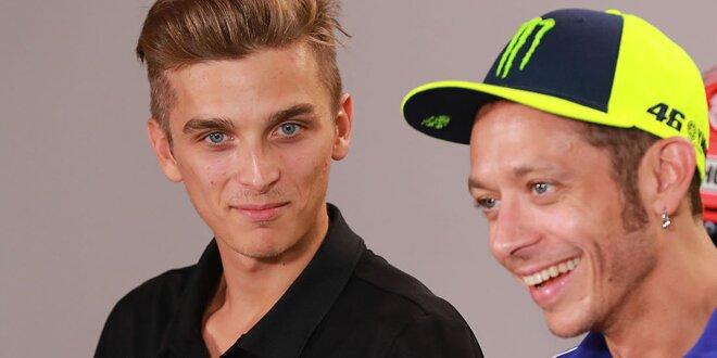Valentino Rossi und Luca Marini machen sich Spaß draus - Mutter Stefania gibt Fahrtipps