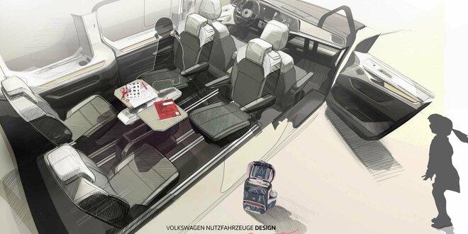Designskizze teasert ein weiteres Multivan-Feature ... - T7 bekommt Multifunktionstisch