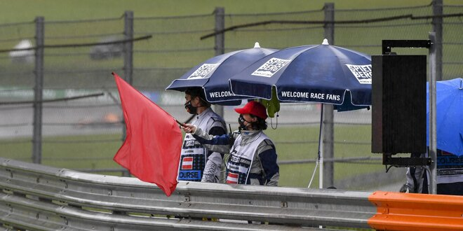 Schwerer Unfall von Maro Engel beim Start -  Rote Flagge beim ADAC GT Masters