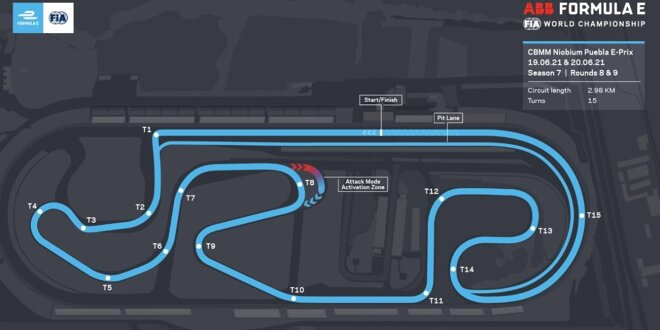 Formel E gastiert in Mexiko auf neuer Strecke -  Durch die Ovalkurve in Puebla