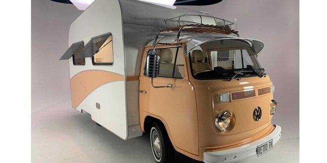 Süßer VW-Camper mit Subaru-Antrieb von Retro RV - Klassiker außen, modern innen