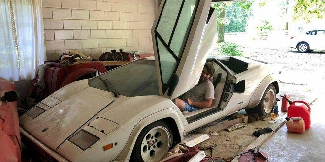 Dieser Lamborghini Countach wurde einfach vergessen - Bei Opa in der Garage gefunden