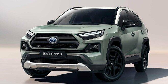 Das neue Modell übernimmt auch Detailänderungen - Der Toyota RAV4 für die freie Natur