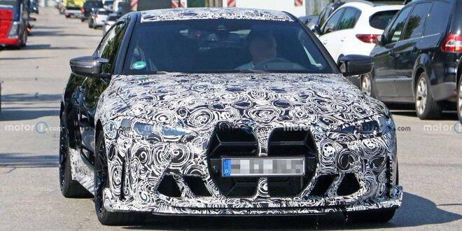 BMW M4 CSL: Erlkönig gesichtet - Anderer eigenwilliger Kühlergrill