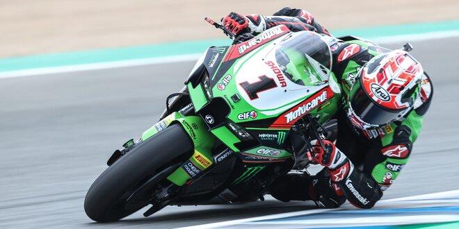 WSBK in Jerez: Kawasaki am Freitag vor Ducati und Honda - Rea auf P1, Razgatlioglu nur auf P7
