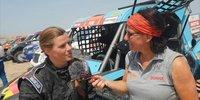 Annett Fischer nach ihrer ersten Rallye Dakar
