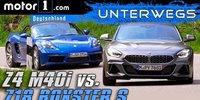 BMW Z4 M40i vs. Porsche 718 Boxster S