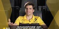 Carlos Sainz blickt auf den Singapur-GP voraus