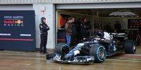 Der Red Bull RB14 erstmals auf der Strecke