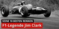 Die 10 besten Rennen von F1-Legende Jim Clark