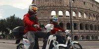 Die Audi-Piloten als Pizzaboten in Rom