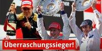 Die größten Überraschungssieger der Formel 1 seit 1996