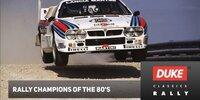 Die Rallye-Champions der 1980er-Jahre