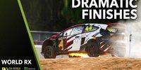 Die spektakulärsten Zieleinläufe im Rallycross