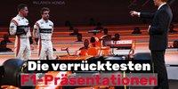 Die verrücktesten Formel-1-Präsentationen