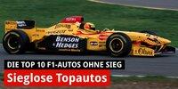 Die zehn besten Formel-1-Autos ohne Sieg