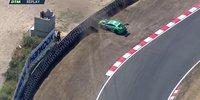 DTM Zandvoort: Müller crasht in Reifenstapel