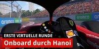 Erste virtuelle Runde durch Hanoi mit Charles Leclerc