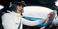 F1-Fahrer Ocon bei der Rallye Monte Carlo