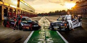 Familie Asch: Mercedes 190 E Klasse 1 vs. Audi R8 LMS GT3 Evo