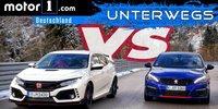 Honda Civic Type R vs. Peugeot 308 GTi | UNTERWEGS