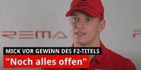 Interview: Mick Schumacher vor Gewinn des F2-Titel