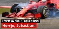 Letzte Nacht: Bei Vettel steckt