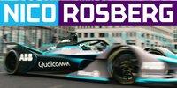 Nico Rosberg fährt Formel-E-Auto durch Berlin