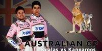 Perez & Ocon über Australien: Koala oder Känguru?
