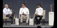 PK mit Toto Wolff und Lewis Hamilton