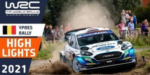 Rallye Ypern 2021: Heftiger Abflug von Katsuta