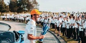 Ricciardo: Nach Sieg in Monza nur ein Glas Wein