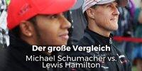 Schumacher vs. Hamilton: Der große Vergleich
