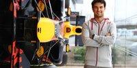 Sergio Perez in der Red-Bull-Fabrik