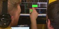 Telemetrie-Analyse bei Rene Binders erstem Test