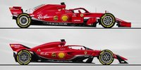 Vergleich: Formel-1-Design 2018 vs. Vision 2021