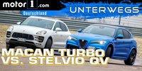 Vergleichstest: Stelvio QV vs. Porsche Macan Turbo