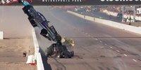 Verrückter Dragster-Unfall in den USA
