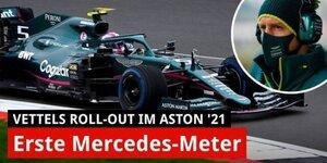 Vettels neues Auto: Die ersten Meter im Aston Martin!