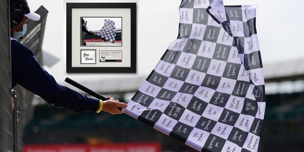 Mit etwas Glück werden Sie Teil der Zielflagge des Eifel-Grand-Prix 2020